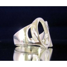 STERLING SILVER RING WITH GREEK LETTER ALPHA