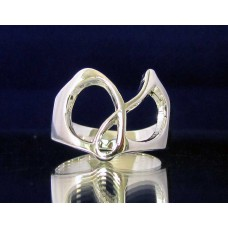 STERLING SILVER RING WITH GREEK LETTER GAMMA