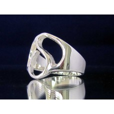 STERLING SILVER RING WITH GREEK LETTER DELTA
