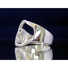 STERLING SILVER RING WITH GREEK LETTER EPSILON