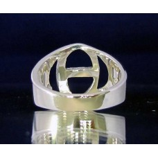 STERLING SILVER RING WITH GREEK LETTER THETA