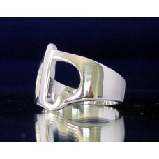 STERLING SILVER RING WITH GREEK LETTER IOTA
