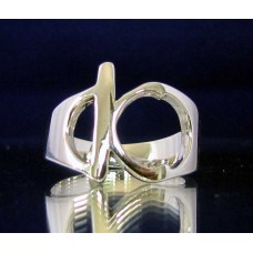 STERLING SILVER RING WITH GREEK LETTER KAPPA