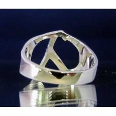 STERLING SILVER RING WITH GREEK LETTER LAMBDA