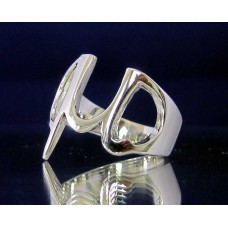 STERLING SILVER RING WITH GREEK LETTER MU