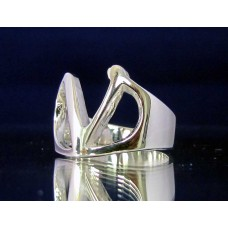 STERLING SILVER RING WITH GREEK LETTER NU