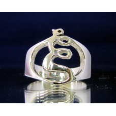STERLING SILVER RING WITH GREEK LETTER XI