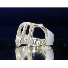 STERLING SILVER RING WITH GREEK LETTER PI