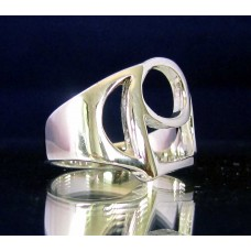STERLING SILVER RING WITH GREEK LETTER RHO