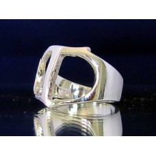 STERLING SILVER RING WITH GREEK LETTER TAU