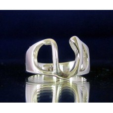 STERLING SILVER RING WITH GREEK LETTER UPSILON