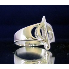 STERLING SILVER RING WITH GREEK LETTER PHI
