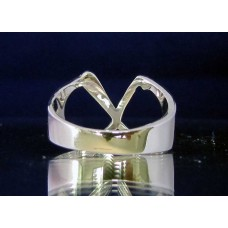 STERLING SILVER RING WITH GREEK LETTER CHI