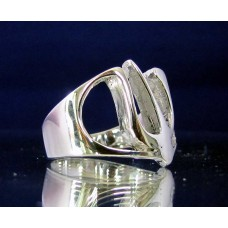 STERLING SILVER RING WITH GREEK LETTER PSI