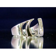 STERLING SILVER RING WITH GREEK LETTER OMEGA